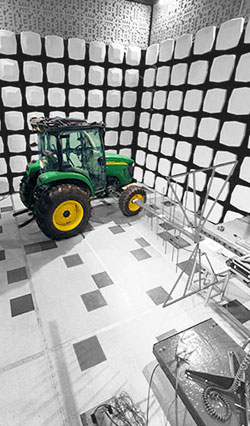 Tractor Measurement in Clemson Test Chamber