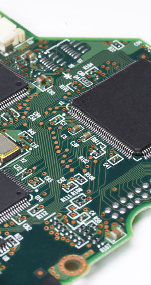integrated circuits on a printed circuit board
